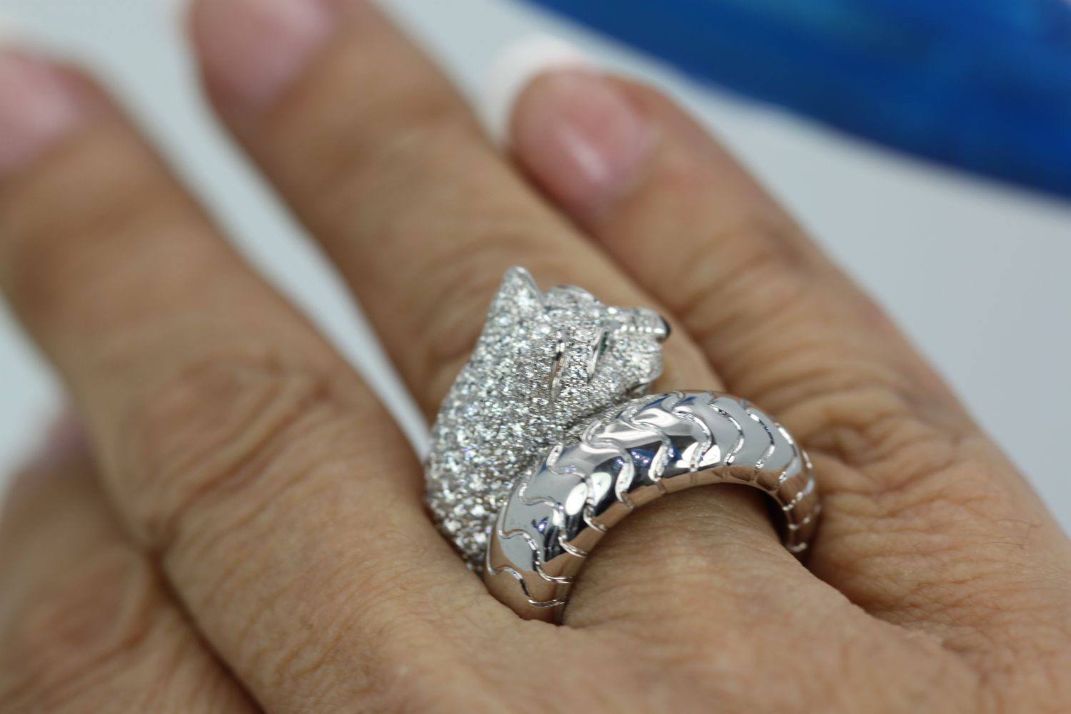 b6c377351976e Cartier Panther Diamond Ring from the Panthere de Cartier Collection