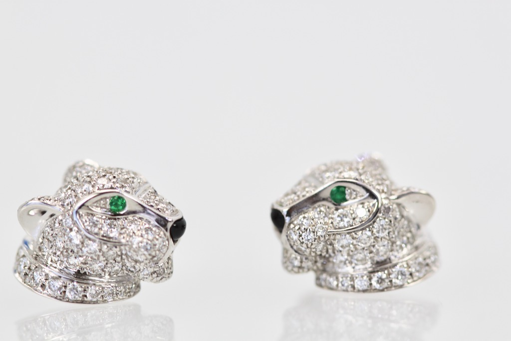 042be2cc6 Cartier Diamond Panthere Stud Earrings – Cris Notti Jewels